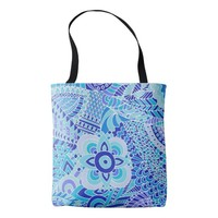 doodling art tote bag