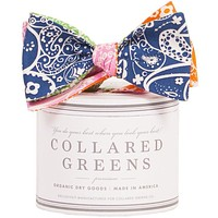The Four Panel Seaside Paisley Bow in Navy/Orange/Green/Pink by Collared Greens