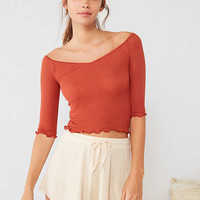 Out From Under Brooke Off-The-Shoulder Ribbed Top | Urban Outfitters