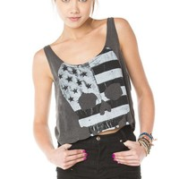 Brandy ♥ Melville |  Mirella Flag Skull Tank - Just In