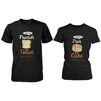 French Toast and Pancake Cute Couple Shirt His and Hers Funny Matching Tee