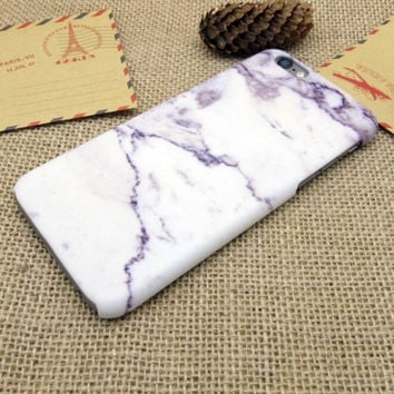 Purple Stone Case Cover for iPhone 7 7 Plus - iPhone 5s se - iPhone 6 6s Plus + Gift Box