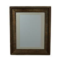 11x14 picture frame with mat for 8x10 or 9x12 handcrafted from reclaimed wood