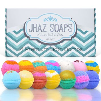 Lot of 14 (2.5 oz.) Assorted Pack of Lush and Luxurious Bath Bomb - Moisturizing Bath Fizzy