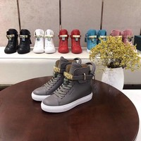 BUSCEMI men Fashion High Top Casual Sneaker Running sport Shoes good Quality Gray