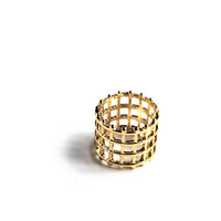 """Squared Away"" Gold Finger Ring"