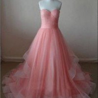 Sleeveless Coral Formal Occasion Dress 2018 Prom Dress Custom Size 0 2 4 6 8 10