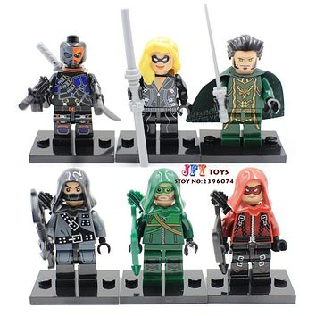 Batman Dark Knight gift Christmas 60pcs starwars super heroes marvel Ra's Al Ghul Red Dark Archer Deathstroke building blocks bricks hobby toys for kids speelgoed AT_71_6
