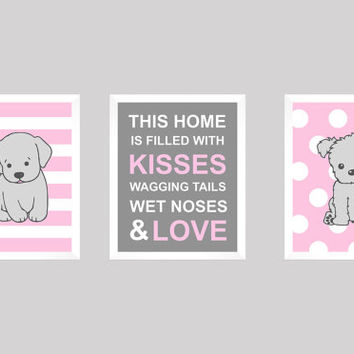 Puppy Print, Dog Print, Puppy Nursery, Girl Nursery Art, Baby Boy, Kids Wall Art, Labrador Print, Dog Quote, Puppy Art CUSTOMIZE YOUR COLORS