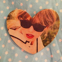 Like, ever. Taylor Swift heart button / pin