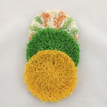 Dish Scrubbies - Kitchen Scrubbies - Crochet Scrubbies - Pot Scrubbies - Dish Scrubber - Face Scrubbies - Crochet Face Scrubbies