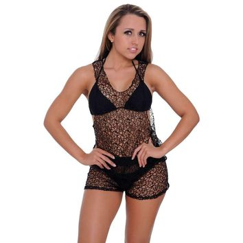 026508fd9bccd Women s Crochet Tank Top ONLY Swimwear Cover-up Made in the USA