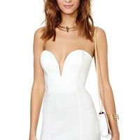 Nasty Gal Helix Dress - White