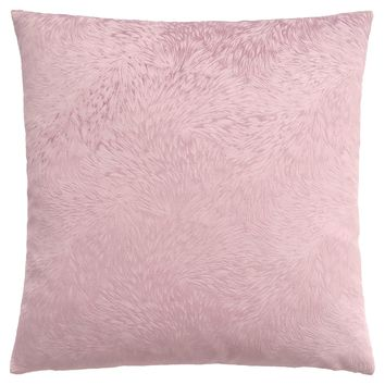 "Pillow - 18""X 18"" / Light Pink Feathered Velvet / 1Pc"
