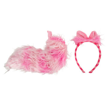 Disney Alice In Wonderland Cheshire Cat Ears Tail Set