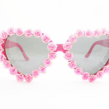 Soft Floral Mirror Summer Vacation Beach Sunglasses [6047693313]