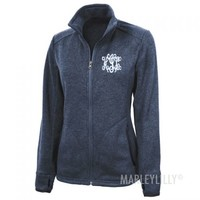 Monogram Heathered Jacket | Marleylilly