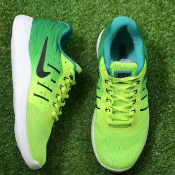 Nike Lunarstelos Fashion Men Running Sport Casual Shoes mesh Sneakers Green Mint green Gradient G-CSXY
