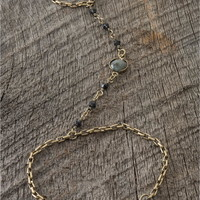 Gold-Color Hand Chain - Lacey Ryan Collection - Gold