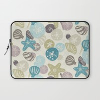A Walk on the Beach Laptop Sleeve by Noonday Design | Society6