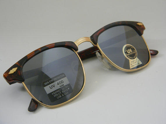Vintage Deadstock CLUBMASTER Sunglasses TORTISE by VintageSunnys