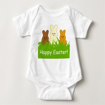 Cute Easter Bunnies Baby Jersey Bodysuit