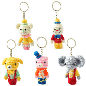 Amigurumi Stuffed Set of Finger Puppets Toys Keychains Keyrings VKC