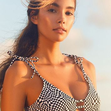 Out From Under Winnie Printed Strappy Bikini Top | Urban Outfitters