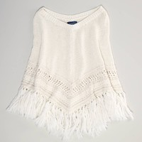 AE Fringed Poncho | American Eagle Outfitters