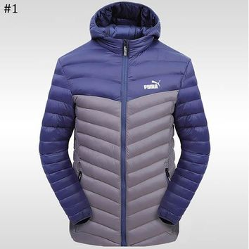 PUMA 2018 winter new sports and leisure warm down jacket #1