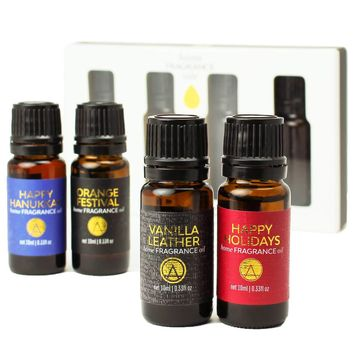 Holiday Scented Home Diffuser Fragrance Oils Gift Set