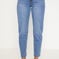 Low Rise Mom Mid Wash Jean