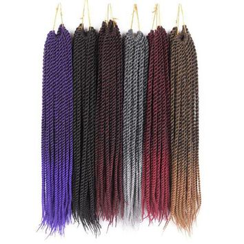 LMF78W TOMO  Products 7 Packs 20' Ombre Kanekalon Fiber Synthetic Crotchet Braid Hair Weave 20 Strands Senegalese Twist Crohcet Hair