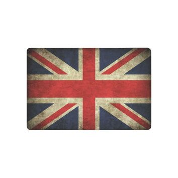 Autumn Fall welcome door mat doormat Union Jack Flag Anti-slip  Home Decor, Grunge Flag of United Kingdom Indoor Outdoor Entrance  AT_76_7