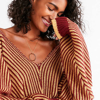 UO Ozzy Striped Dolman Sweater | Urban Outfitters