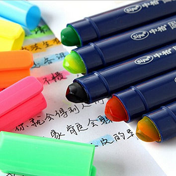 KitMax (TM) Pack of 5 Pcs Cute Cool Novelty Candy Color Solid Jelly Highlighter Pen Office School Supplies Students Children Gift