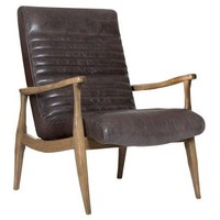Erik Pannel Chair, Wolf Gray Leather