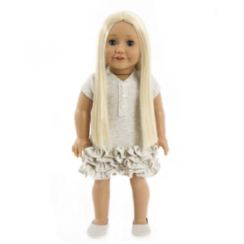 Treasured Dolls - Light Skin with Straight Blonde Hair and Beautiful Blue Eyes