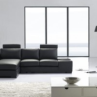 Cool Leather Sofa - OpulentItems.com