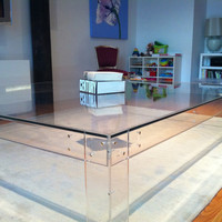 Clear Glass Table