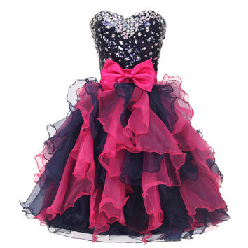 High School / University Knee Length Cocktail Party Ball Gown Sexy Prom Dress Colorful Beaded Short Homecoming dresses 2017 4976