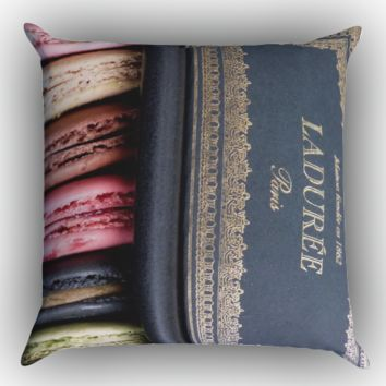 laduree macaron Zippered Pillows  Covers 16x16, 18x18, 20x20 Inches