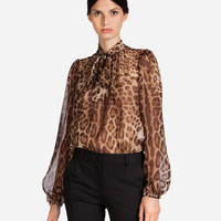 New Arrivals Women's Clothes | DG Online store - PRINTED SILK BLOUSE