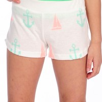 Vintage Havana Anchor & Sailboat Shorts