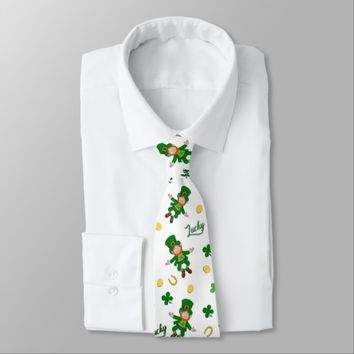 St Patricks day pattern Tie