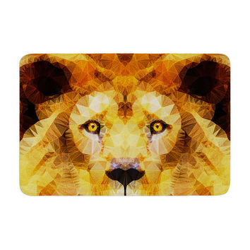 "Ancello ""Lion King"" Yellow Brown Memory Foam Bath Mat"