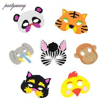 1Pcs EVA Party Mask Creative Forest Animals Children Adult Masks Activity Masks Halloween Mask Children 's Toys Event Supplies