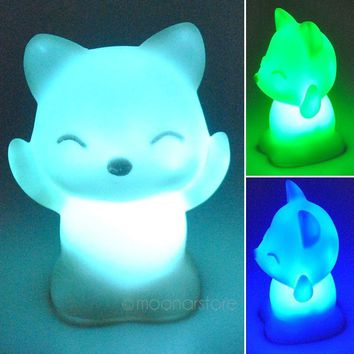 Fox-Shaped Night Light Different Colors home Decoration Night Light Color Changing LED Night lamp Atmosphere Night Light