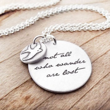 Not all who wander are lost Inspirational by lulubugjewelry