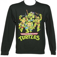 Men's Dark Green Teenage Mutant Ninja Turtles Sweater : TruffleShuffle.com